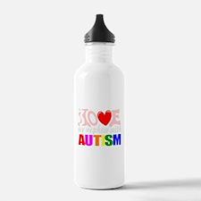 Love my autistic nephew Water Bottle
