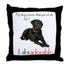 He's Labradorable Throw Pillow