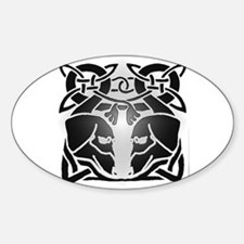 Irish Celtic Dachshund dogs 6 Oval Decal