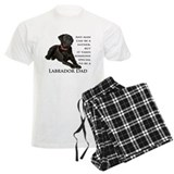 Black labrador retriever Men's Light Pajamas