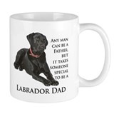 Black lab dad Coffee Mugs