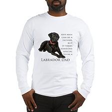 Black Lab Dad Long Sleeve T-Shirt