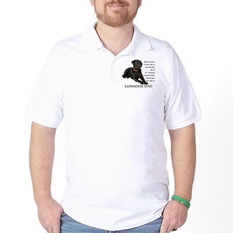 Black Lab Dad Golf Shirt