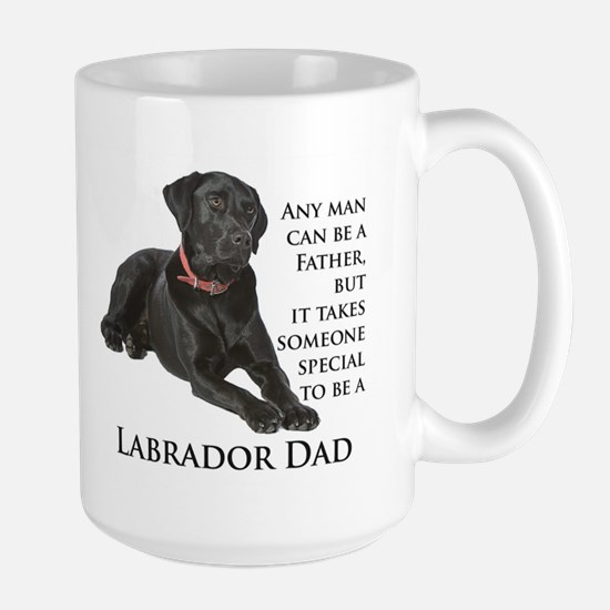 Black Lab Dad Large Mug