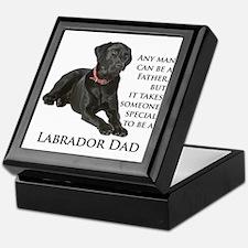 Black Lab Dad Keepsake Box
