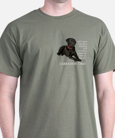 Black Lab Dad T-Shirt
