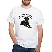 Black Lab vs Wife Shirt