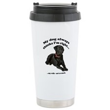 Black Lab vs Wife Travel Mug