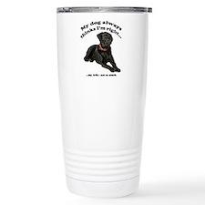 Black Lab vs Wife Travel Coffee Mug