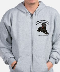 Black Lab vs Wife Zip Hoodie