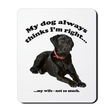 Black Lab vs Wife Mousepad