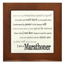 I Am a Marathoner Framed Tile
