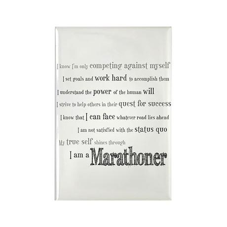 I Am a Marathoner Rectangle Magnet