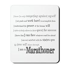 I Am a Marathoner Mousepad