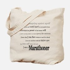 I Am a Marathoner Tote Bag