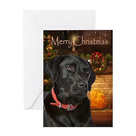 Holiday Black Lab Card
