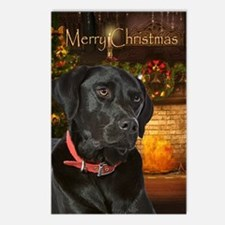 Holiday Black Lab Postcards (Package of 8)