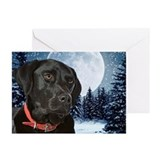 Dogs christmas black lab Greeting Cards (20 Pack)