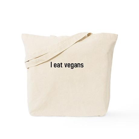 I eat vegans Tote Bag