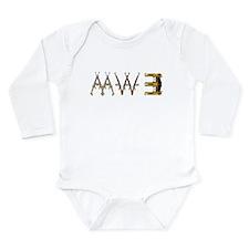 MW3 Guns Long Sleeve Infant Bodysuit