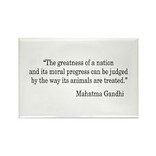 Gandhi Quote Rectangle Magnet