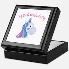 Unicorn 1st Valentine Keepsake Box