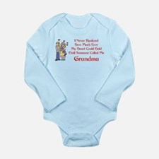 Called Me Grandma Long Sleeve Infant Bodysuit