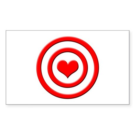 Heart Target - Rectangle Sticker