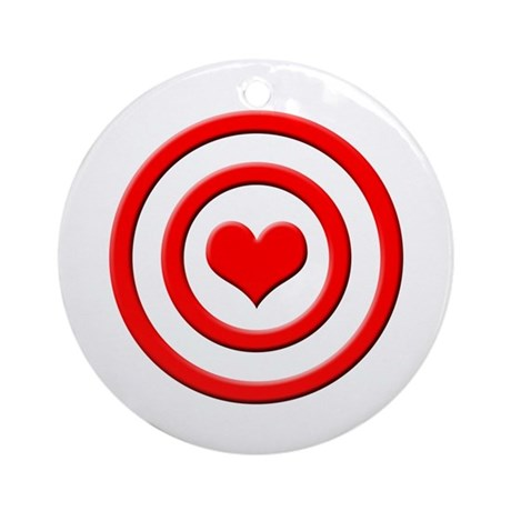 Heart Target - Ornament (Round)