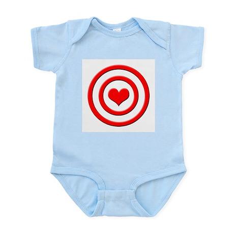 Heart Target - Infant Creeper