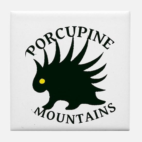 Porcupine Mountains Tile Coaster