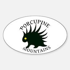Porcupine Mountains Sticker (Oval)