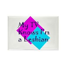 Cute Knows im a lesbian Rectangle Magnet