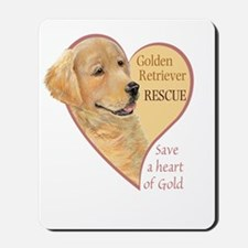 Golden Retriever RESCUE Mousepad