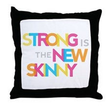 Strong is the New Skinny - Color Merge Throw Pillo