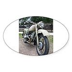 Vintage Motorcycle Sticker (Oval)