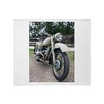 Vintage Motorcycle Throw Blanket