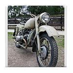 Vintage Motorcycle Tile Coaster