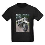 Vintage Motorcycle Kids Dark T-Shirt