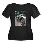 Vintage Motorcycle Women's Plus Size Scoop Neck Da