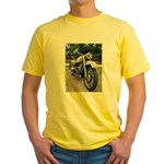 Vintage Motorcycle Yellow T-Shirt