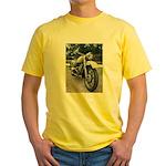 Vintage Motorcycle Yellow T-Shirt