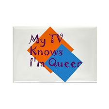 Unique Knows im a lesbian Rectangle Magnet