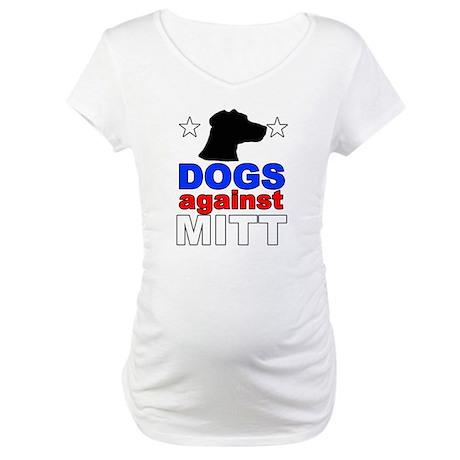Dogs Against Mitt Romney 1 Maternity T-Shirt