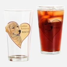 Golden Retriever RESCUE Drinking Glass