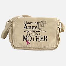 Breast Cancer Mother Angel Messenger Bag