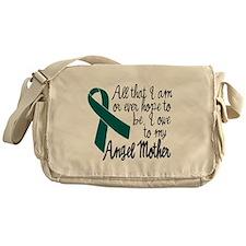 Angel Mother Ovarian Cancer Messenger Bag