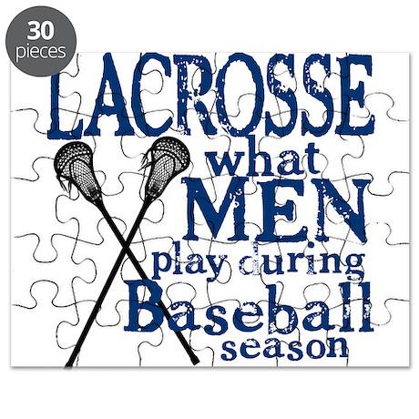 Men Play Lacrosse Puzzle