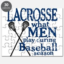 Men Play Lacrosse Puzzle