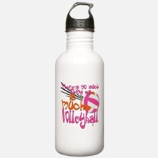 2 much Volleyball Sports Water Bottle